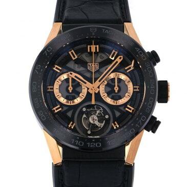 【期間限定ポイント3倍 10/4〜10/11】 タグ・ホイヤー TAG HEUER カレラ キャリバー ホイヤー02 T CAR5A5U.FC6377 ブラック/ゴールド文字盤 中古 腕時計 メンズ
