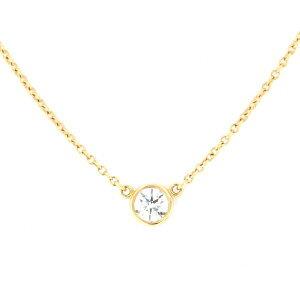Тиффани и Ко TIFFANY Ожерелье / Кулон Желтое золото Byazard Necklace-I женские украшения [Использовано]