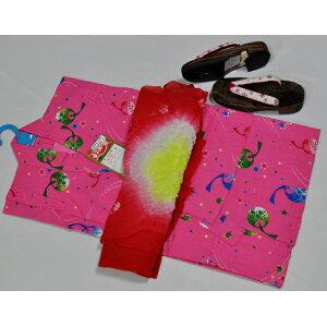 Cs808 * taille 120 ** Ensemble de 3 yukata pour femme * * D'une couleur rose choquante * Cloche à vent * Eté Allons jouer ♪ * Vous pouvez sortir le même jour que vous avez livré ♪ [Musique Tokai _ Tokai]