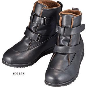 ボアブーツ/スパイクブーツ/防寒ブーツ/5E防水加工Wベルトボアブーツ (スパイク付)【代引き...