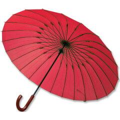 傘 24本 骨 グラスファイバー アルミ【ポイント10倍】軽くて丈夫な24本骨組アルミワイド長傘[代...