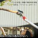 力のいらないアンビル型高枝切りバサミ[代引き手数料無料]