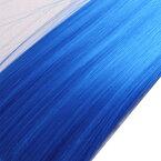 ウィッグヘアー (毛束) 100g ブルー キャッシュレス