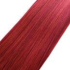 ウィッグヘアー (毛束) 100g オレンジゴールドとレッドのミックス キャッシュレス