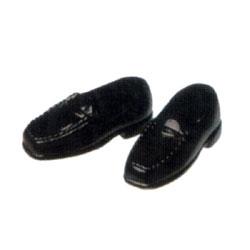 オビツボディ 【オビツ製作所】オビツドール 27SH-F002B ローファー 2足入り 黒靴 シューズ