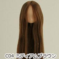 21HD-01植毛ヘッドナチュラルミディアムブラウン