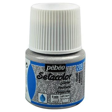 pebeo セタカラー 透明色 グリッター 45ml シルバー