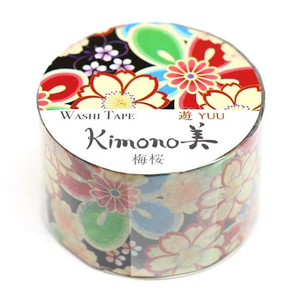 kimono美 和紙マスキングテープ レトロモダンタイプ 梅桜 25mm×5m巻 GR-2010