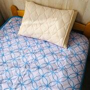 高島ちぢみ敷パッド七宝柄日本製国産寝具地域ブランド送料無料高島ちぢみ涼しい清涼感
