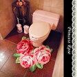 トイレマット 北欧 レース おしゃれ かわいい ローズ 薔薇雑貨姫系 花柄 ボタニカル バラ 雑貨 花柄 かわいい 母の日ギフト 02P28Sep16
