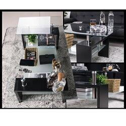 センターテーブルローテーブルガラスリビングテーブルガラステーブルセンター100ブラック高級感ガラスセンターテーブル無垢シンプルリビングテーブルモダン北欧センターテーブルローテーブル