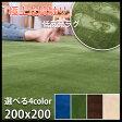 低反発 ラグ 厚手 極厚20mm 200×200 2畳 洗える ラグマット ホットカーペット対応 グリーンも 床暖房対応 送料無料 top2984 1230