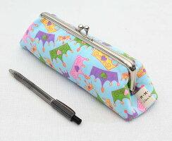 1831 手作りキット♪がま口ペンケース ポーチ 筆箱 18cm口金 シルバー 差し込みタイプ