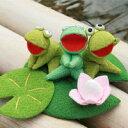 【和雑貨 和風小物 カエルグッズ かえるグッズ 蛙 置物 インテリア】お歌が聴こえてきそうだね...
