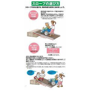イーストアイポータブルスロープエッジ付1枚板タイプ(PEKシリーズ)/PEK025長さ25cm