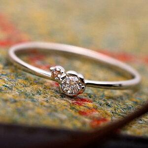 【鑑別書付】プラチナPT950天然ダイヤリング指輪ダイヤ0.05ctピンクダイヤ0.01ct8号フラワーモチーフ(ファッションリング指輪天然石ダイヤモンド)