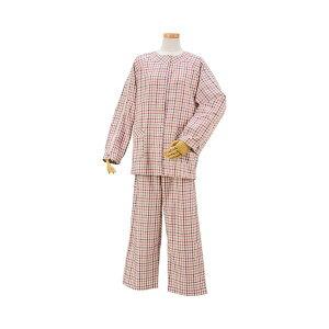 ハートフルウェアフジイ肩開きパジャマセット春夏用/HP04-HP08L05ピンク
