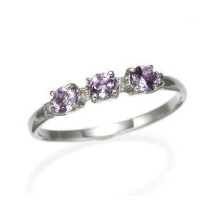 アメジストデザインリングアメジスト9号指輪(ファッションリング指輪その他のリング指輪)