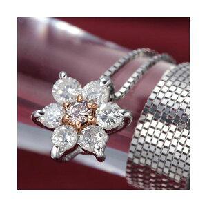 プロスペルピンクダイヤペンダント/ネックレス(ファッションネックレスペンダント天然石ダイヤモンド)