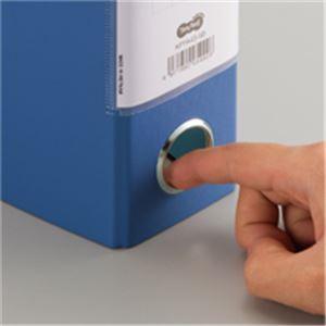 (まとめ)片開きパイプ式ファイルKJ(指かけ穴付)A4-S50mmとじ青30冊