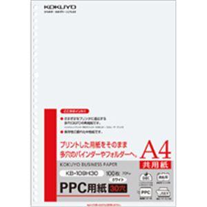(まとめ)PPC用紙(共用紙)75gA4・30穴100枚入×25冊(カテゴリー:AVデジモノプリンターOAプリンタ用紙)