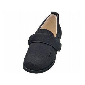介護靴 施設・院内用 ダブルマジック2 7E(ワイドサイズ) 7006 片足 徳武産業 あゆみシリーズ /M (22.0〜22.5cm) ブラック 左足