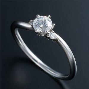 【日本製】Dカラー・VVS2・EXPt0.3ctダイヤリング両側ダイヤモンド(鑑定書付き)14号(ファッションリング指輪天然石ダイヤモンド)