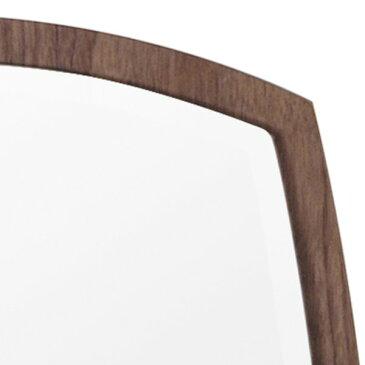 デザイン ウォールミラー/壁掛け鏡 【No.2 ブラウン】 飛散防止加工 『アルク』【代引不可】
