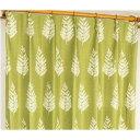 遮光カーテン サンシェード 2枚組 / 100cm×200cm グリーン / 木立柄 洗える ウォッシャブル 形状記憶 『ルノー』 九装 緑