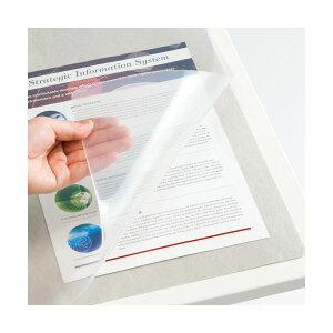 (まとめ)TANOSEE再生透明オレフィンデスクマットダブル(下敷付)1190×690mmグレー1枚【×5セット】(生活用品インテリア雑貨文具オフィス用品デスクマット)