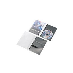 (まとめ)エレコム CD/DVD用スリム収納ソフトケース CCD-DPD30BK
