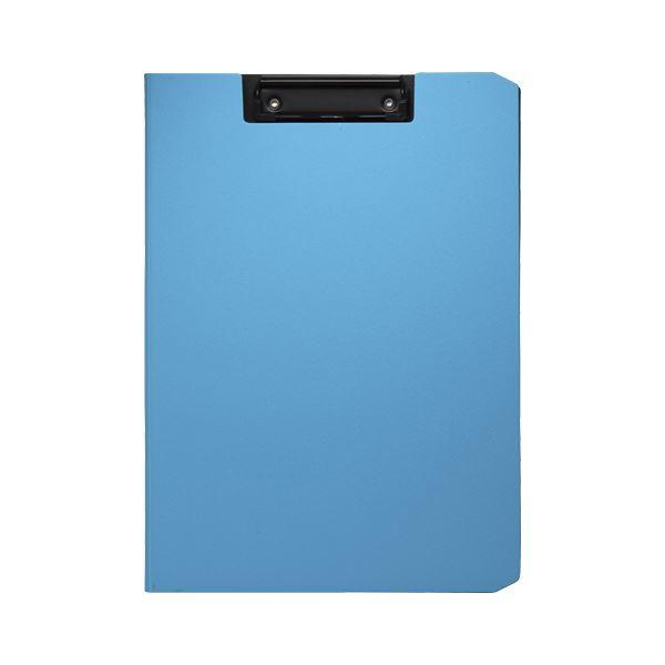 (まとめ) ソニック クリップファイル ソフィット A4タテ ライトブルー【×20セット】 青