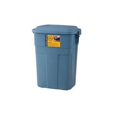 ゴミ箱/ダストボックス 【50L ネイビー】 幅45.5cm 日本製 国産 ポリエチレン 金属 スチール 『トラッシュカン』 〔キッチン 台所〕