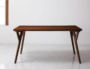 【送料無料】ダイニングテーブル北欧モダンデザインダイニングヴィヨン(テーブル幅W140)(カラーブラウン)茶