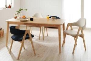 天然木タモ無垢材ダイニング 5点セット(テーブル+チェア4脚) ハイタイプ・ロータイプミックス (テーブル幅 W150)(ハイタイプチェアカラー ネイビー)(ロータイプチェアカラー ネイビー) チェア