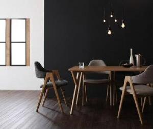 【送料無料】5点セット(テーブル+チェア4脚)北欧モダンデザインダイニングイラーリ(テーブル幅W140)(カラーチャコールグレイ)イス椅子