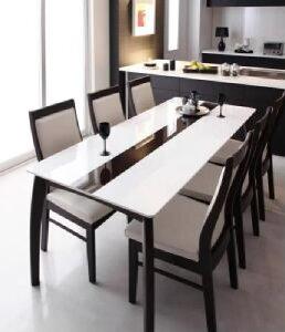 【送料無料】7点セット(テーブル+チェア6脚)モダンデザインハイバックチェアダイニングエルサ(テーブル幅W180)(カラーナチュラル)イス椅子