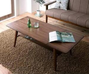 【送料無料】テーブル天然木北欧デザイン伸長式エクステンションローテーブルノイエ(テーブル幅W90-120)(カラーブラウン)茶