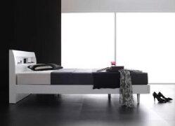 【送料無料】ボンネルコイルマットレスハード付き棚・コンセント付きデザインすのこベッドアラモード(幅サイズダブル)(奥行サイズレギュラー)(フレームカラーウェンジブラウン)ダブルベッド大きい大型2人夫婦茶