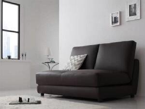 【送料無料】ソファベッドデザインソファベッドクレバリー(2人掛け座面幅2P)(総幅120cm)(カラーブラウン)茶