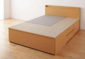 【送料無料】ベッドフレームのみ布団が収納できるチェストベッドふーとん(幅サイズダブル)(奥行サイズレギュラー)(カラーナチュラル)