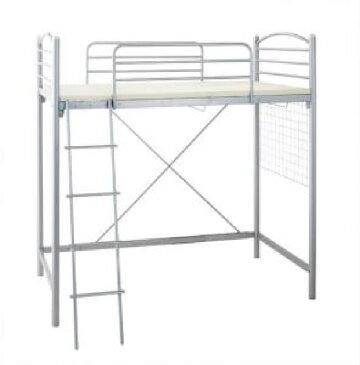 シングルベッド 銀 ロフトベッド用ベッドフレームのみ 単品 のびのびロフトベッド( 幅 :シングル)( 奥行 :レギュラー)( 色 : シルバー 銀 )