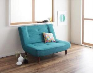 【送料無料】ソファハイバックコイルソファファブリックリネット(ファブリック)(2人掛け座面幅2P)(カラーグリーン)緑