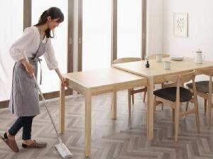 【送料無料】ダイニングテーブル北欧デザインスライド伸縮テーブルダイニングセットソラ(テーブル幅W135-235)(テーブルカラーナチュラル)