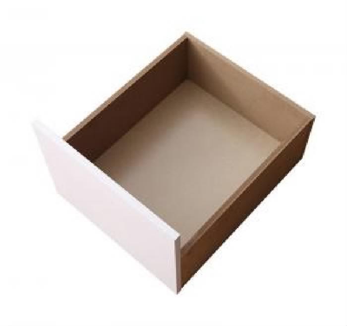 単品 衣装ケースも入る大容量デザイン収納ベッド シュネー用 専用別売品 引出し2杯 (カラー ホワイト) 白