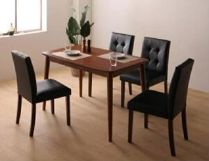 【送料無料】5点セット(テーブル+チェア4脚)さっと拭けるPVCレザーダイニングファシオ(テーブル幅W115)(テーブルカラーブラウン)(チェアカラーホワイト)イス椅子白茶