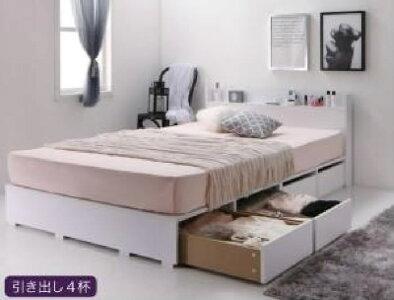 布団で寝れる 棚·コンセント付 ベッド おしゃれな引き出し収納ベッド ...