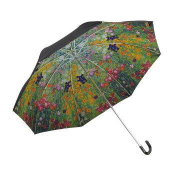 ユーパワー 名画折りたたみ傘(晴雨兼用) クリムト「フラワーガーデン」 AU-02506  【abt-1566113】【APIs】
