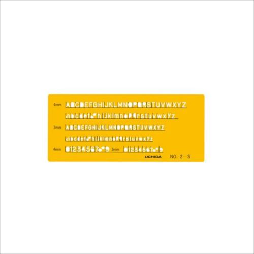 テンプレート No.2-S 英字数字定規 1-843-1012  【abt-1201685】【APIs】