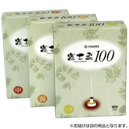 ファロス お灸 富士柔100 温度/弱 100個入×6セット FWS360  【abt-1671481】【APIs】